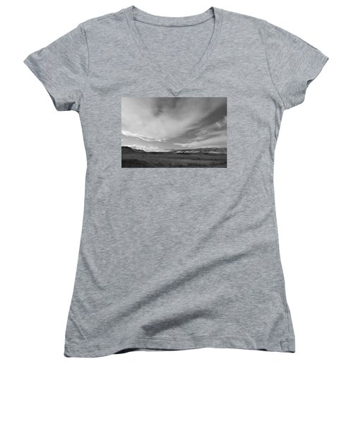 Women's V-Neck T-Shirt (Junior Cut) featuring the photograph Across The Valley by Kathleen Grace