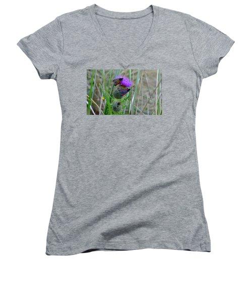 Active Women's V-Neck T-Shirt (Junior Cut) by Barbara Walsh