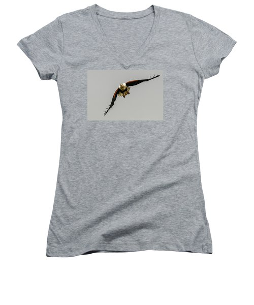 African Fish Eagle Women's V-Neck (Athletic Fit)