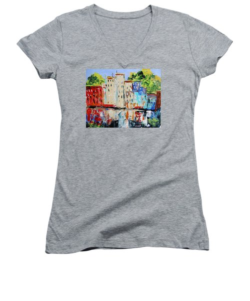 After Hours-reflection Women's V-Neck T-Shirt