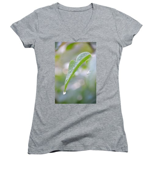 Women's V-Neck T-Shirt (Junior Cut) featuring the photograph After The Rain by JD Grimes