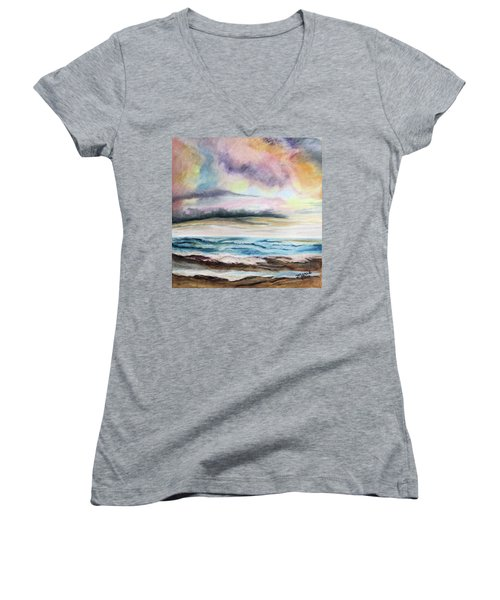 Afternoon Sky Women's V-Neck (Athletic Fit)