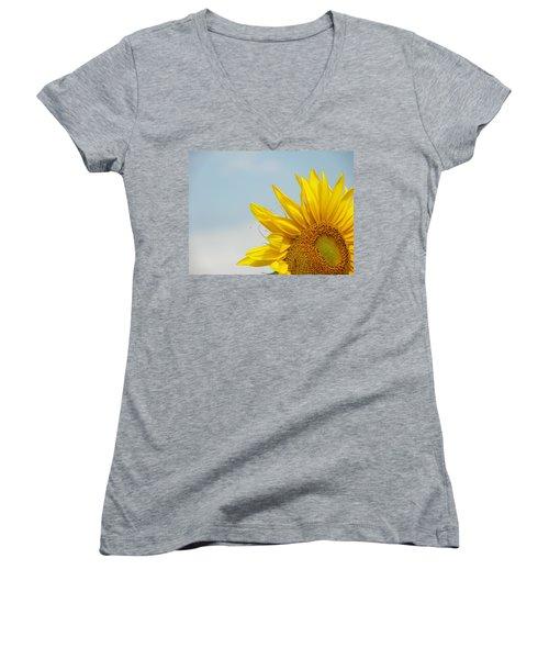 Almost Noon Women's V-Neck T-Shirt (Junior Cut) by Lenore Senior