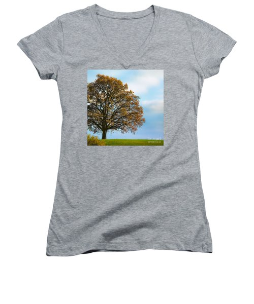 Alone On The Hill Women's V-Neck