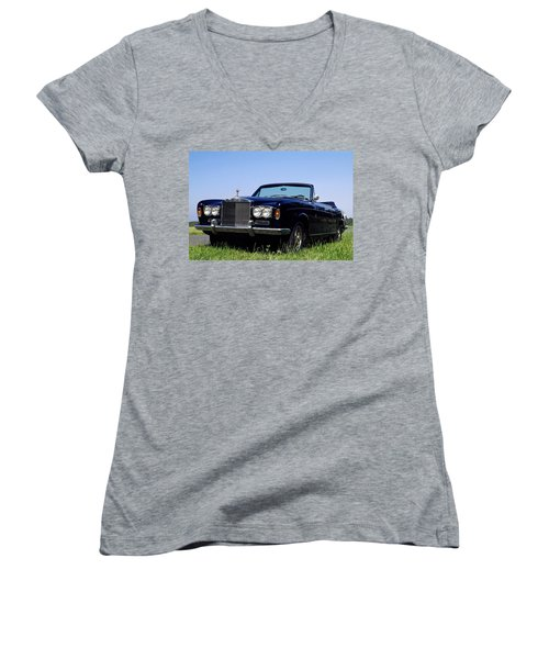 Antique Rolls Royce Women's V-Neck (Athletic Fit)