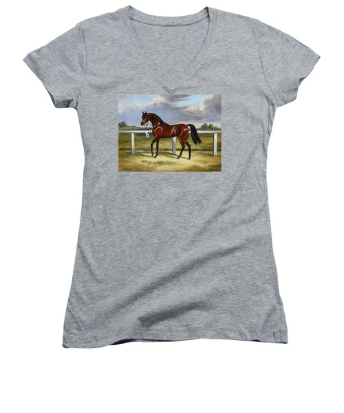 Arabian Horse Women's V-Neck (Athletic Fit)