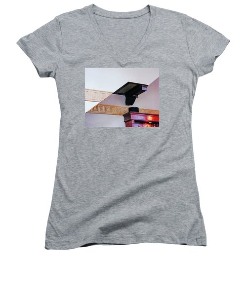 Women's V-Neck T-Shirt (Junior Cut) featuring the photograph Architecture  by Lizi Beard-Ward