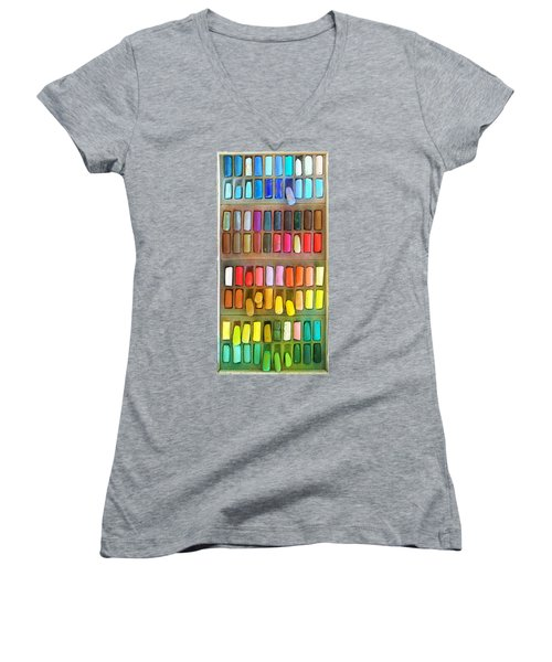 Artists Rainbow Women's V-Neck (Athletic Fit)