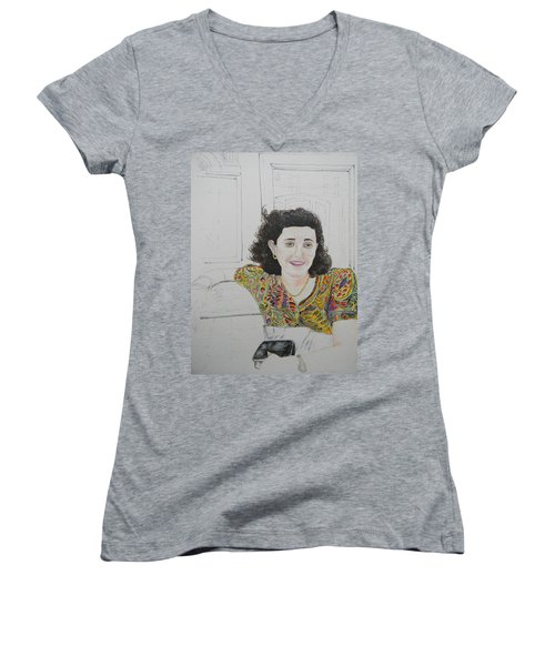 At The Cafe' Centrale Women's V-Neck T-Shirt