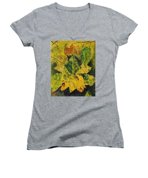 Autumn Boquet Women's V-Neck T-Shirt