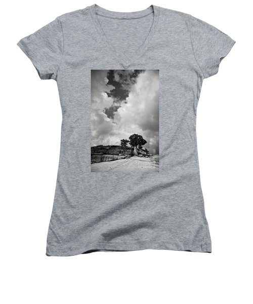Before The Storm 2 Women's V-Neck (Athletic Fit)