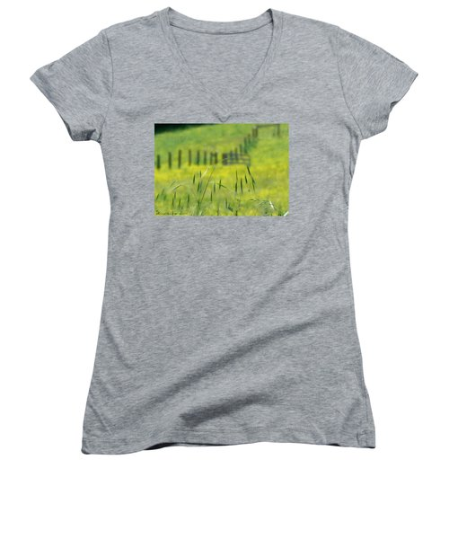 Beyond The Weeds Women's V-Neck T-Shirt (Junior Cut) by EricaMaxine  Price
