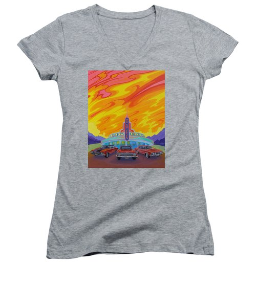 Big Block Cafe Women's V-Neck