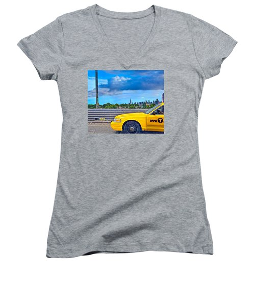 Big Yellow Taxi Women's V-Neck (Athletic Fit)