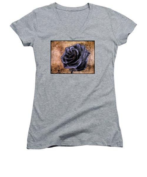 Black Rose Eternal   Women's V-Neck
