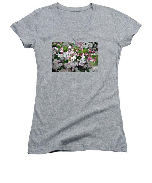 Blossoms On Blossoms Women's V-Neck