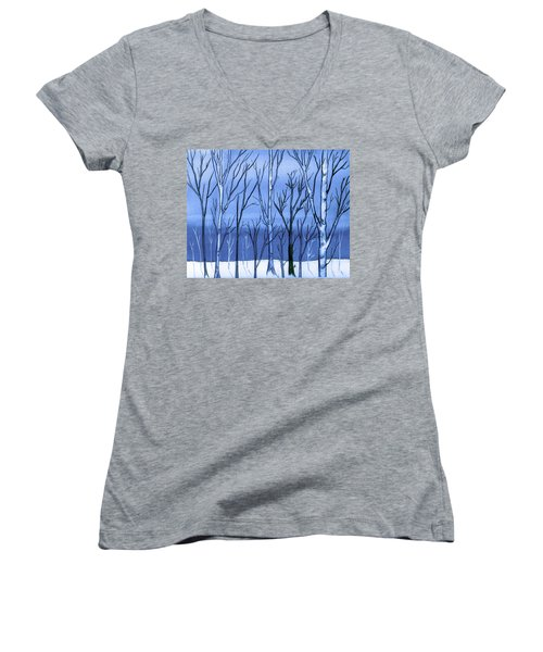 Blue Interlude Women's V-Neck (Athletic Fit)