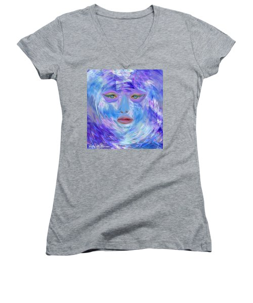 Blue Waters Women's V-Neck T-Shirt (Junior Cut) by Kelly Turner
