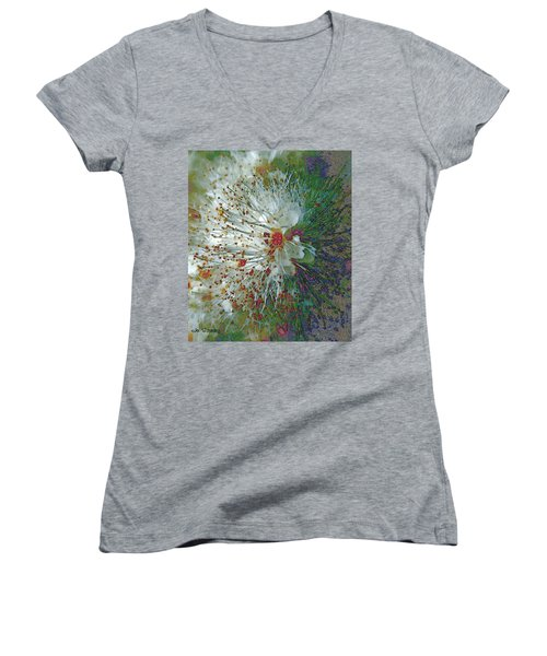 Bouquet Of Snowflakes Women's V-Neck (Athletic Fit)