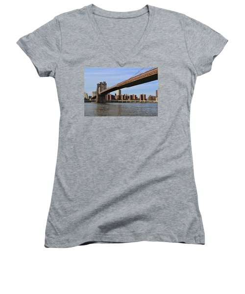 Brooklyn Bridge1 Women's V-Neck T-Shirt