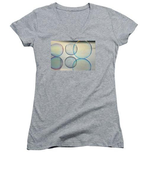 Bubbles On The Water Women's V-Neck T-Shirt