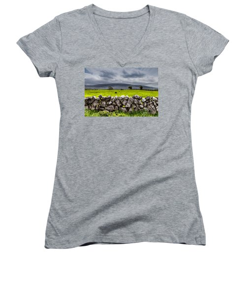 Burren Stones Women's V-Neck (Athletic Fit)