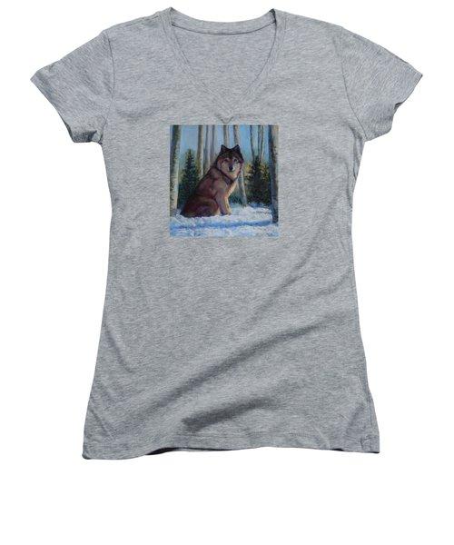 Captured By The Light Women's V-Neck T-Shirt (Junior Cut) by Billie Colson