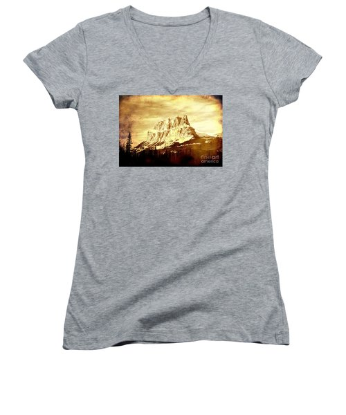 Castle Mountain Women's V-Neck T-Shirt