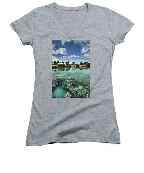 Chankanaab Lagoon Women's V-Neck T-Shirt