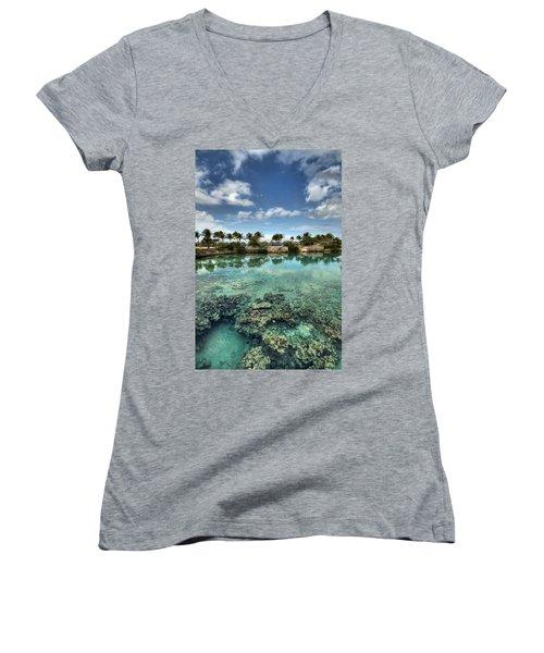 Chankanaab Lagoon Women's V-Neck T-Shirt