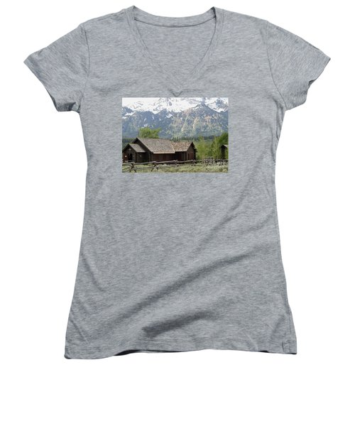 Chapel Of The Transfiguration Episcopal Women's V-Neck T-Shirt (Junior Cut) by Living Color Photography Lorraine Lynch