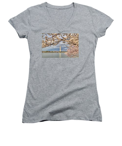 Cherry Blossoms Washington Dc 4 Women's V-Neck