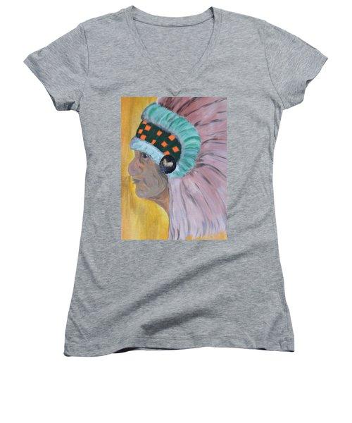 Chief Women's V-Neck T-Shirt (Junior Cut) by Maria Urso