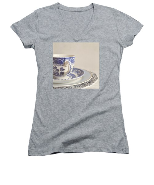 China Cup And Plates Women's V-Neck T-Shirt
