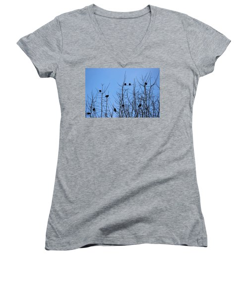 Circle Of Friends Women's V-Neck T-Shirt (Junior Cut) by Kume Bryant