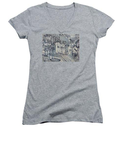 City Doodle Women's V-Neck T-Shirt