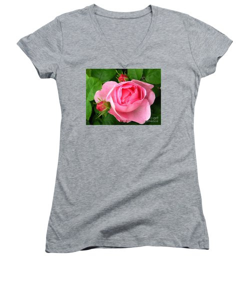 Rose And Rose Buds Women's V-Neck (Athletic Fit)