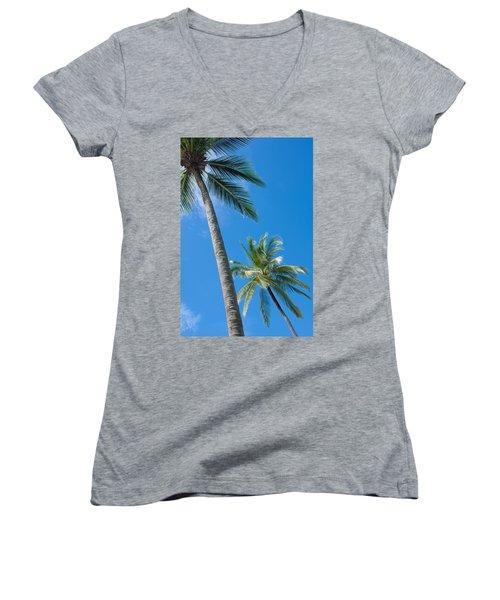 Coconuts  Women's V-Neck T-Shirt (Junior Cut) by Atiketta Sangasaeng