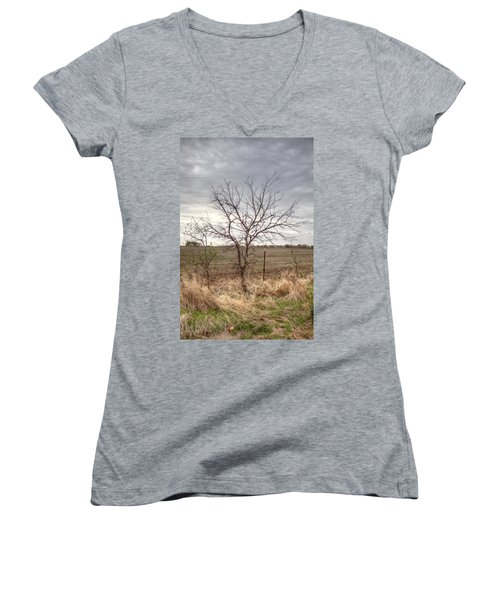 Color - Country Tree Women's V-Neck