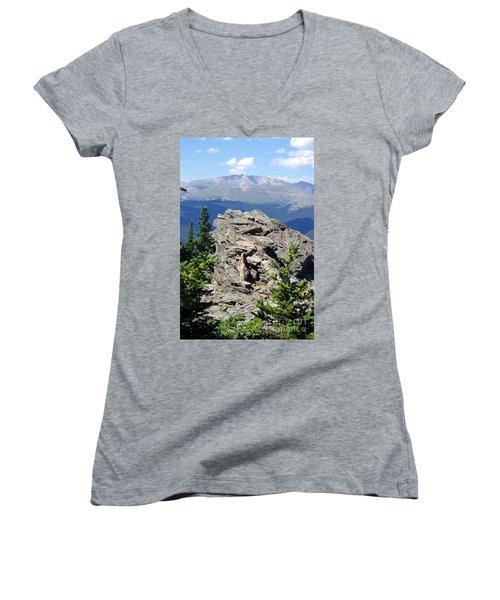 Women's V-Neck T-Shirt (Junior Cut) featuring the photograph Colorado 11 by Deniece Platt