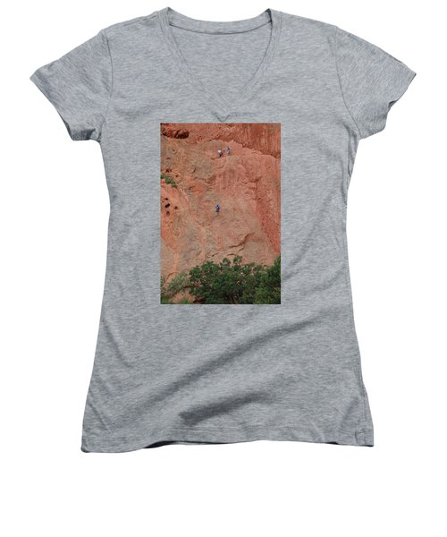 Coming Down The Mountain Women's V-Neck