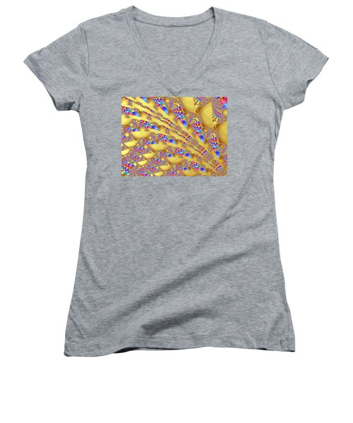 Complex Garden 2 Women's V-Neck T-Shirt (Junior Cut) by Mark Greenberg