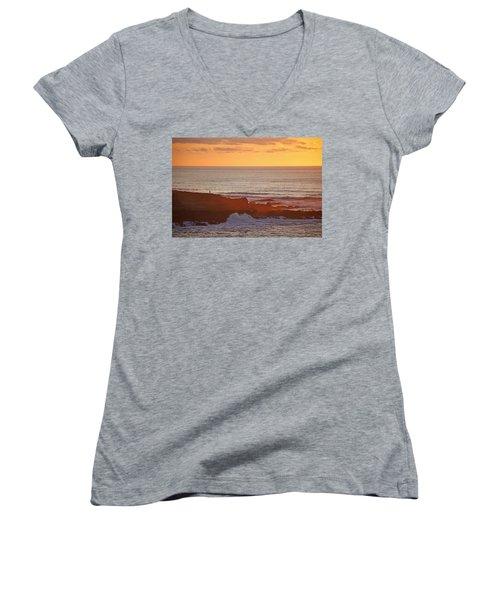 Women's V-Neck T-Shirt (Junior Cut) featuring the photograph Contemplation by Susan Rovira