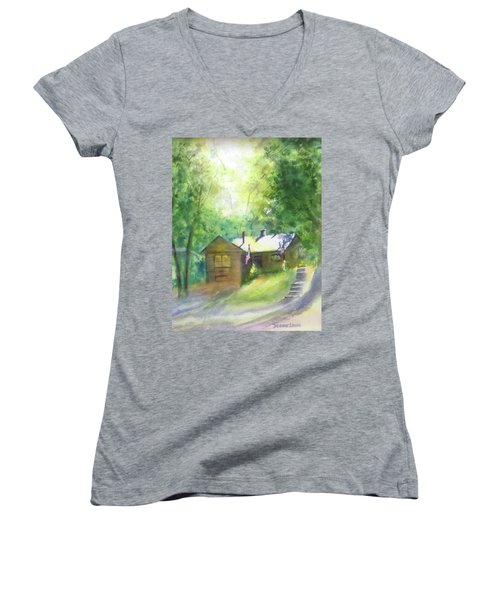 Cool Colorado Cabin Women's V-Neck (Athletic Fit)