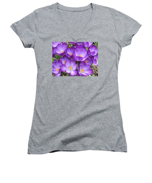 Crocus Women's V-Neck T-Shirt