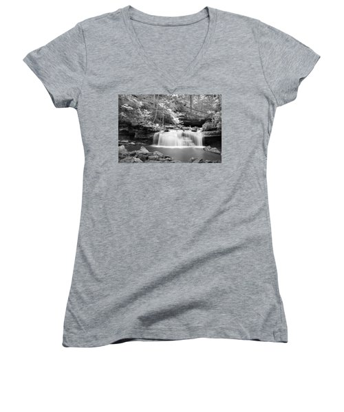 Dainty Waterfall Women's V-Neck (Athletic Fit)