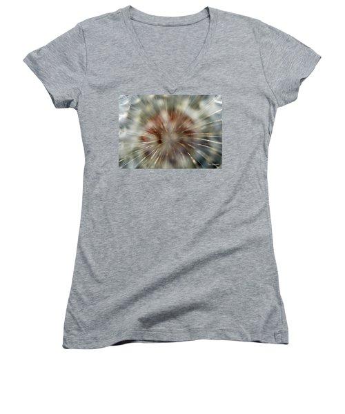 Dandelion Fluff Women's V-Neck T-Shirt