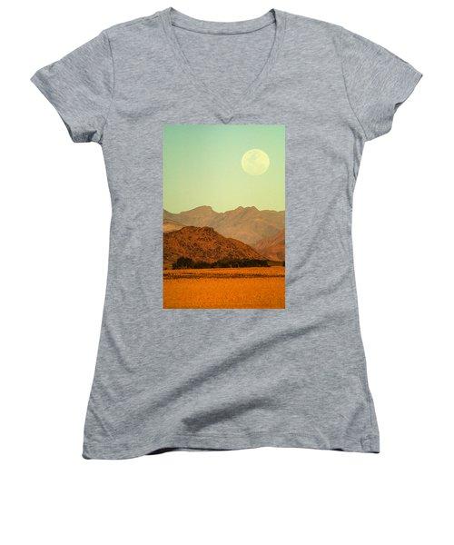 Desert Moonrise Women's V-Neck
