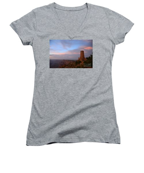 Desert View Watchtower Women's V-Neck T-Shirt