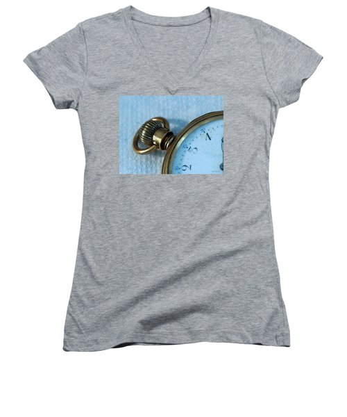 Women's V-Neck T-Shirt (Junior Cut) featuring the photograph Details Of Time 1 by Kay Lovingood